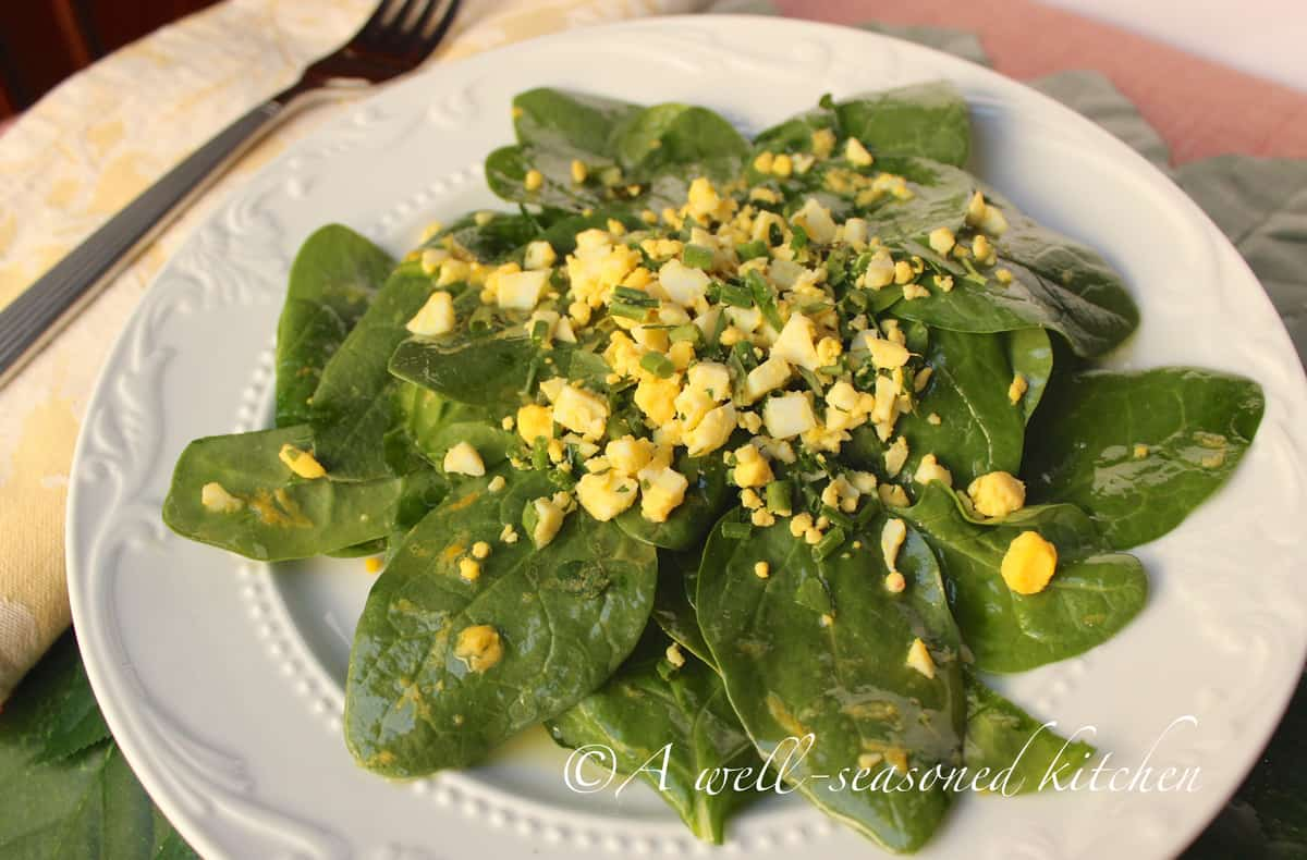 Spinach Salad with Lemon-Dijon Dressing - A Well Seasoned Kitchen
