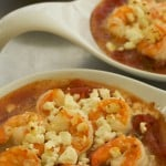 Baked Shrimp with Tomato, Feta Cheese and Capers