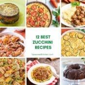 Collage of zucchini recipe photos