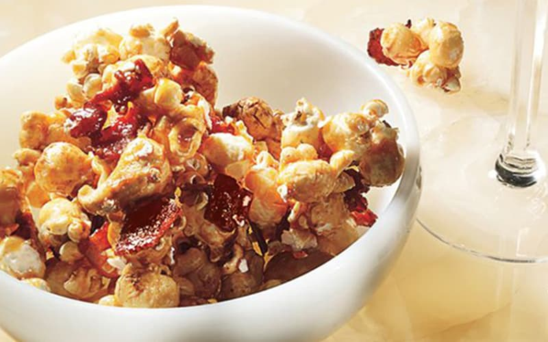 Bacon and Cashew Caramel Corn - A Well Seasoned Kitchen