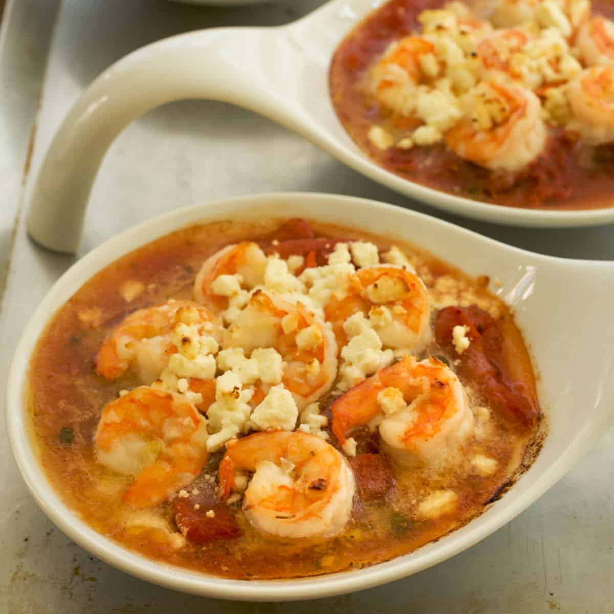 Baked Shrimp with Tomatoes, Feta Cheese and Capers | A ...