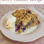 Single serving Berry Cobbler formatted for sharing