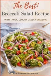 Pin of Best Broccoli Salad Recipe to share on Pinterest