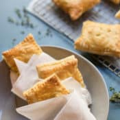 Handheld Chicken Pot Pie Envelopes wrapped in paper napkins