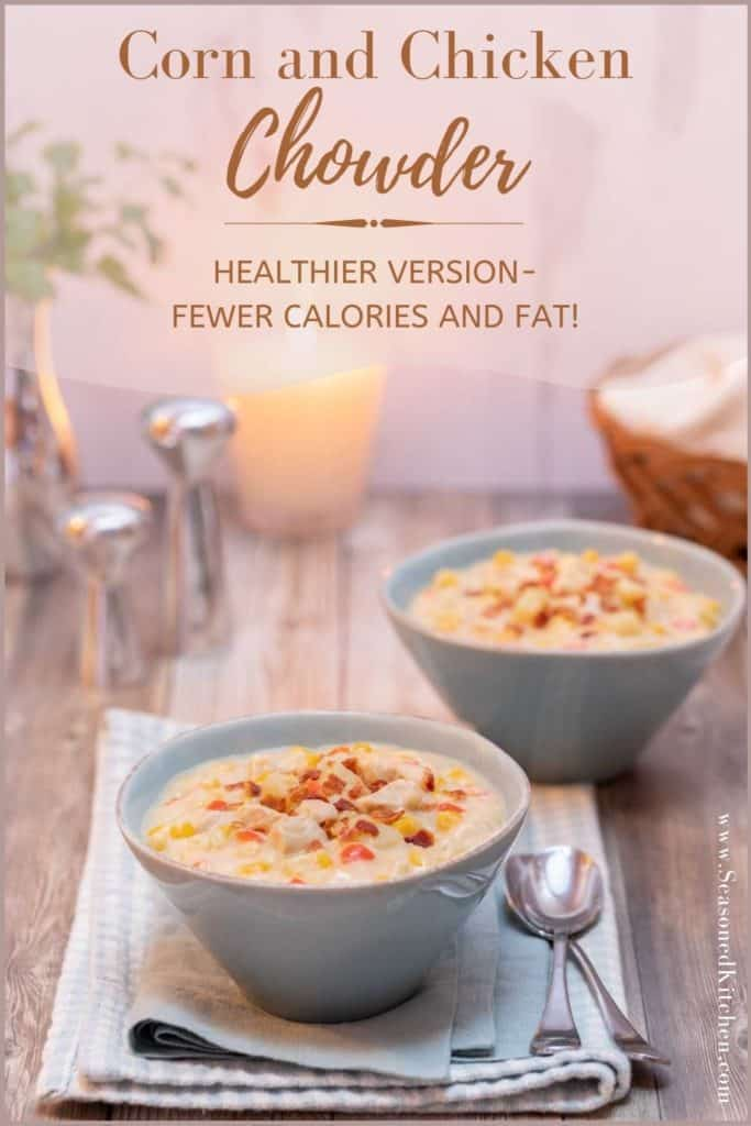 photo of Chicken Chowder formatted for sharing on Pinterest