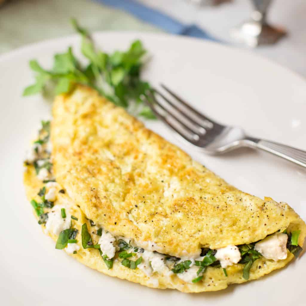 Goat-cheese-herb-omelet-recipe-from-seasonedkitchen.com