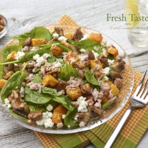 Butternut-squash-mushroom-spinach-salad-recipe