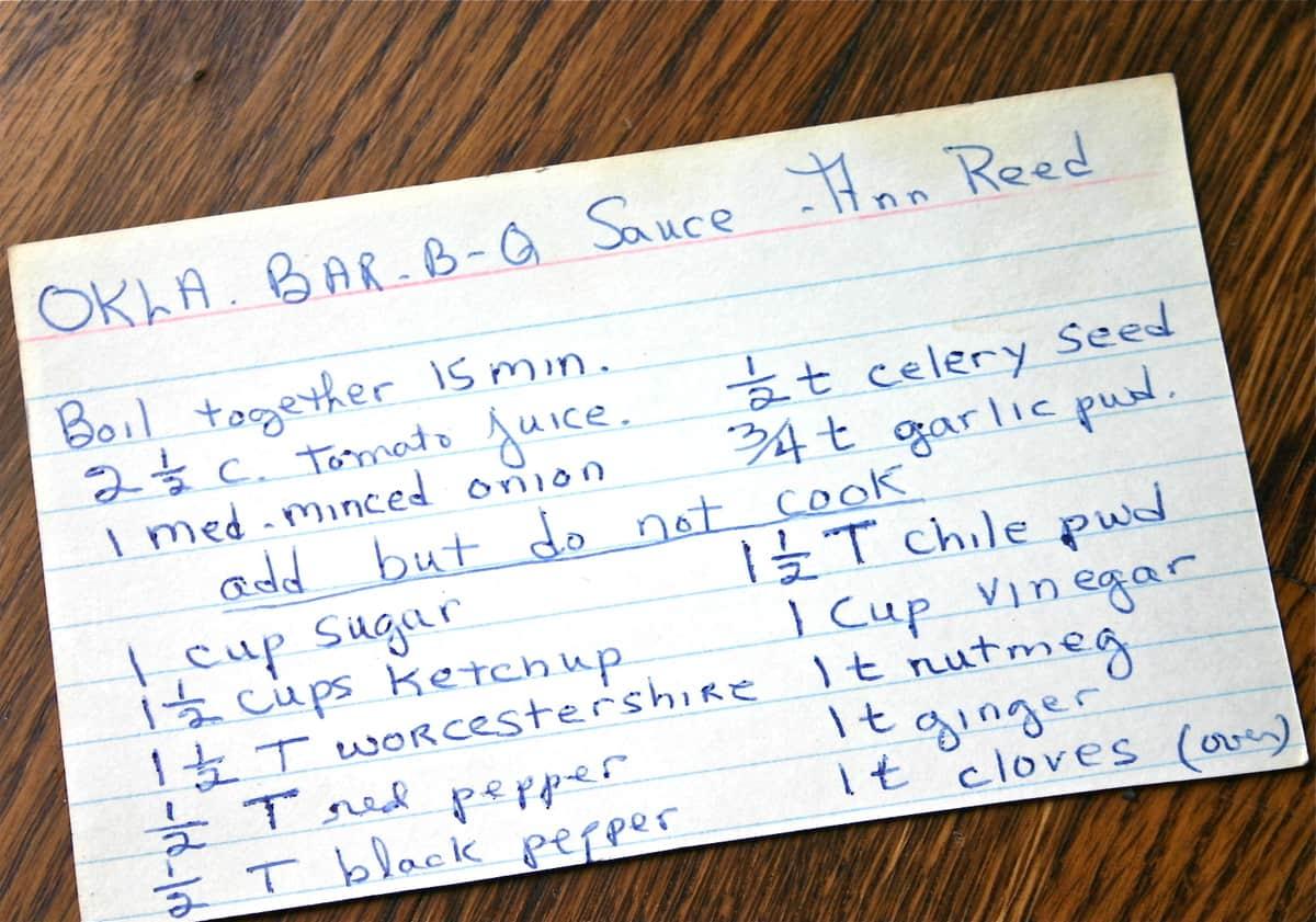 Oklahoma Bbq Sauce A Well Seasoned Kitchen