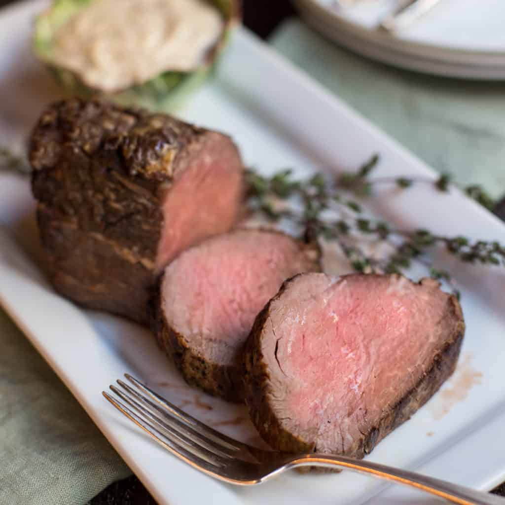 Slow-roasted-beef-tenderloin-with horseradish-mustard-sauce-recipe