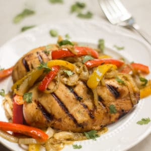 Southwestern-grilled-chicken-with-peppers-onions