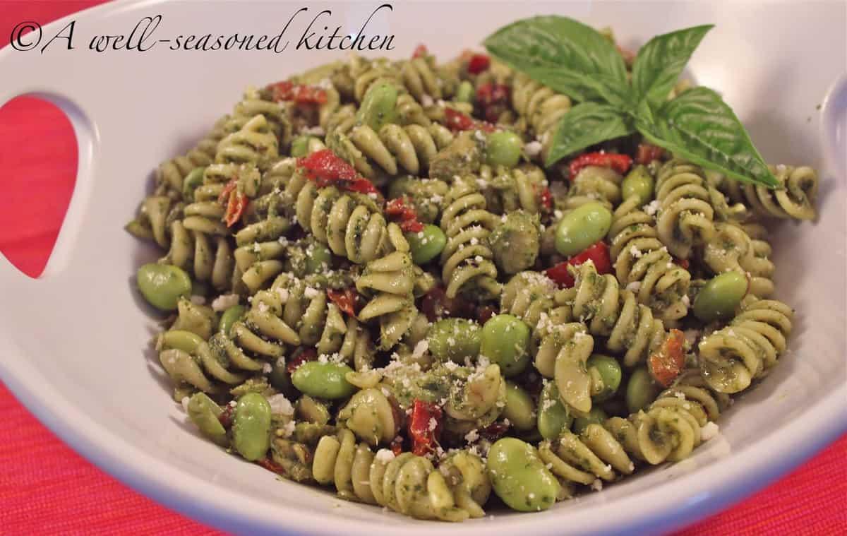 Tuna Pasta Salad with Pesto Dressing - A Well Seasoned Kitchen