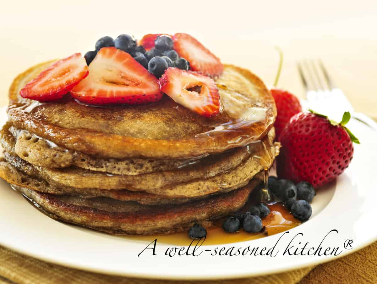 Banana yogurt pancakes a well seasoned kitchen who doesnt love pancakes believe it or not they are really very quick and easy to prepare from scratch in the same amount of time it takes to fry a ccuart Gallery