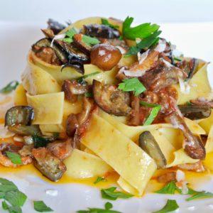 Eggplant-Mushroom-Sauce-Pappardelle-Pasta-recipe