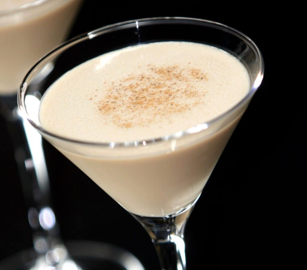 martini glass filled with a Frozen Brandy Alexander