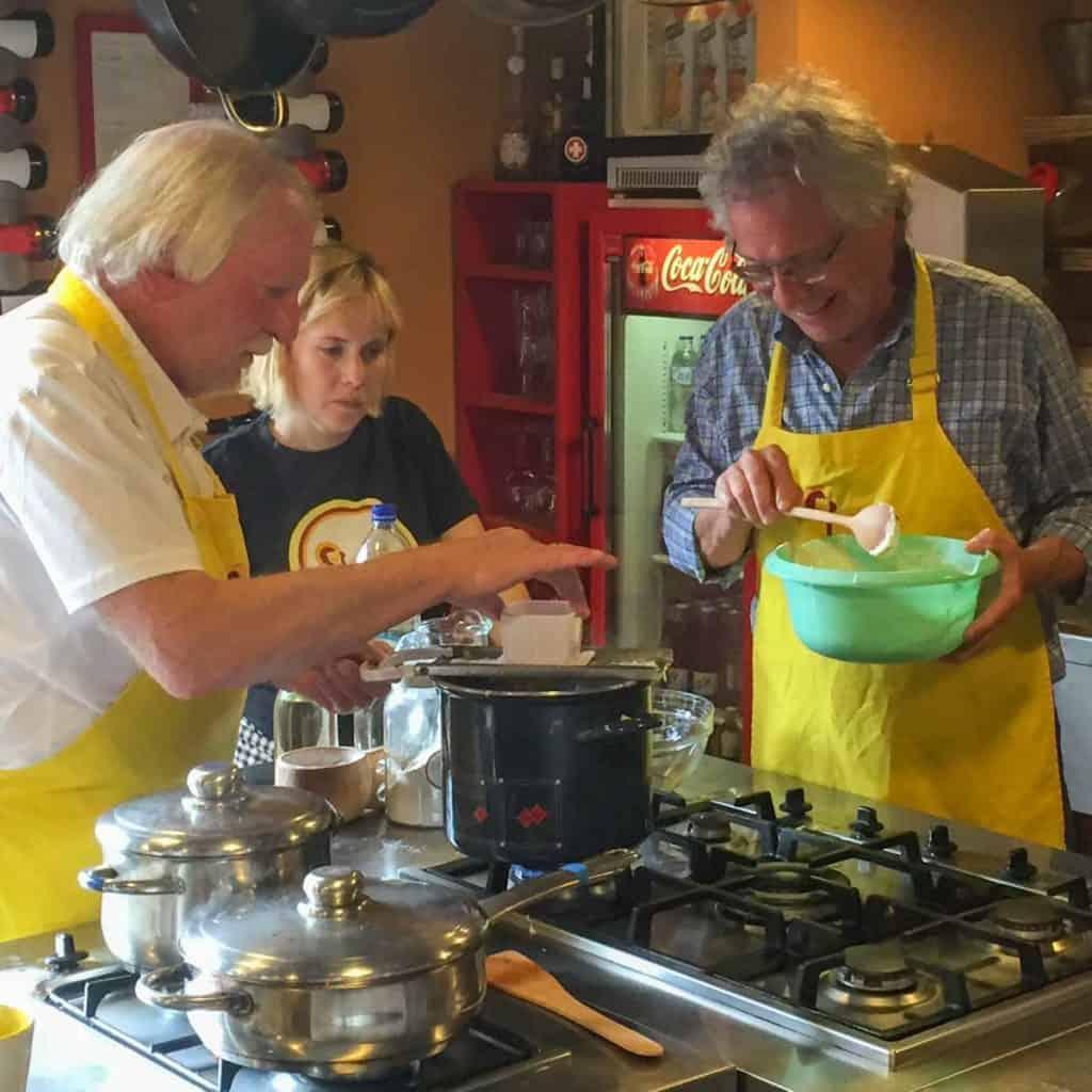 Making Nokedli at Chefparade cooking school