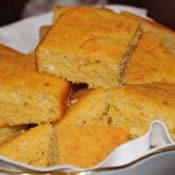 Parmesan Buttermilk Cornbread is moist, tangy and super delicious! #cornbreadrecipe #easycornbreadrecipe #cheesycornbreadrecipe #quickbreadrecipe