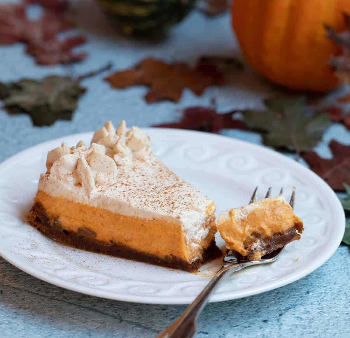 Slice of Rum Pumpkin Tart