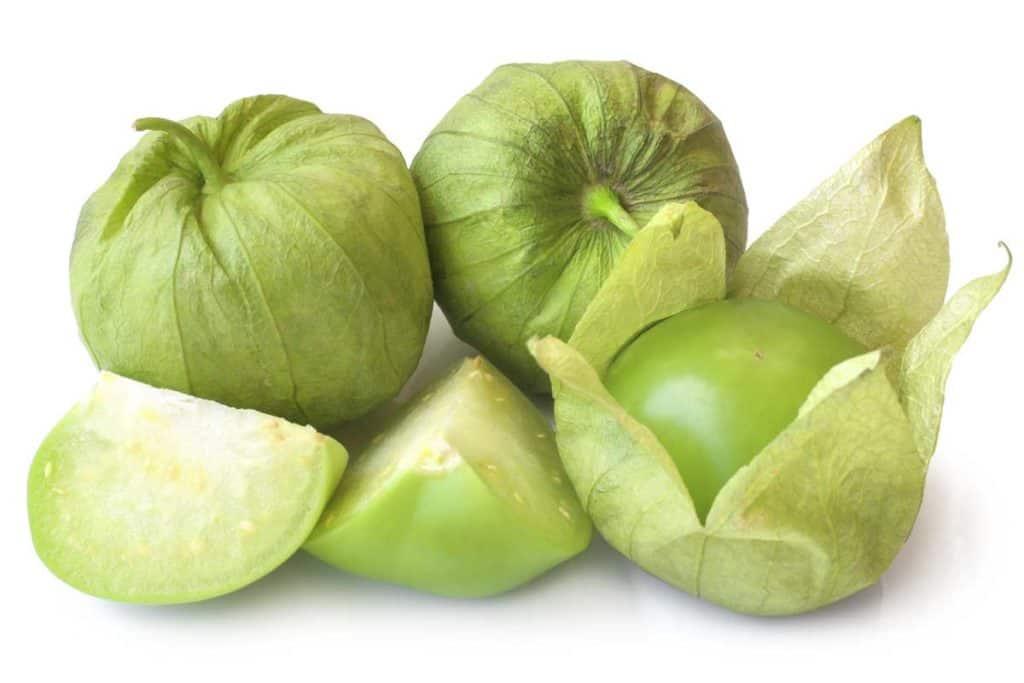 stock photo of raw tomatillos